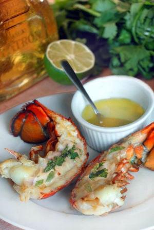 Split Grilled Tequila Lobster Tails