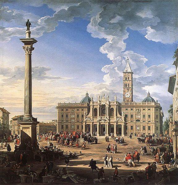 Fil: Giovanni Paolo Pannini - Piazza och kyrkan Santa Maria Maggiore.jpg
