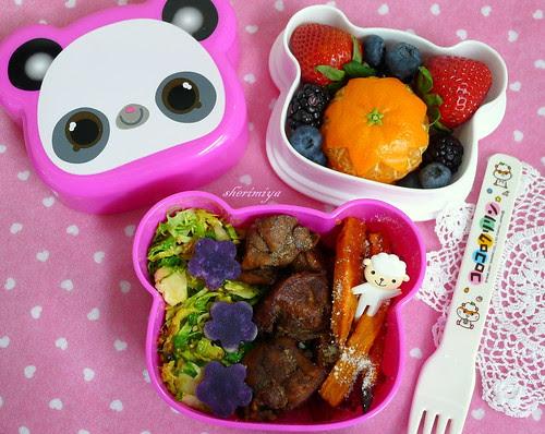 5-Spice Chicken Panda Bento by sherimiya ♥