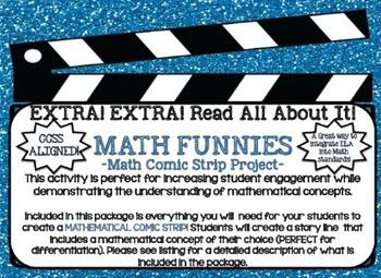 Math FUNNIES - CREATE a MATHEMATICAL CONCEPT Comic Strip P