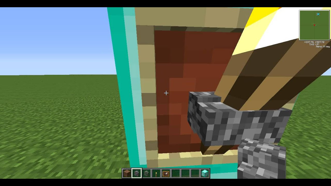 Minecraft: How To Make a Torch into a Item Frame with a ...