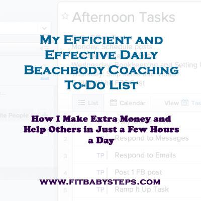 My Efficient and Effective Daily Beachbody To-Do List - Tara S Porter