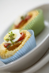 Bites - Puff Pastry with Quail's Eggs