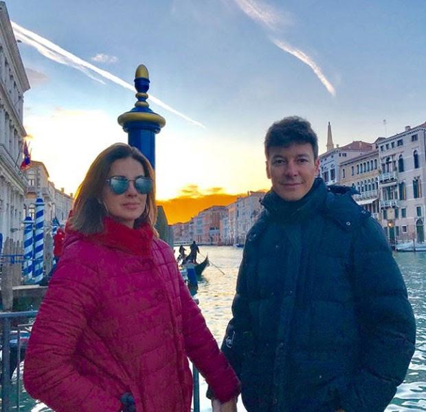 Rodrigo Faro e Vera Viel em Veneza (Foto: Reprodução Instagram)