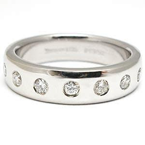 estate tiffany  mens diamond wedding band ring solid