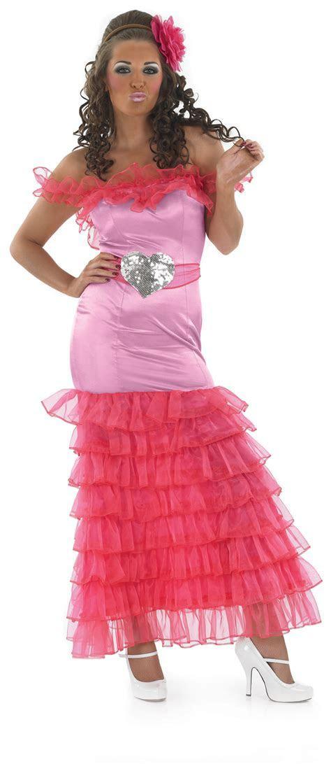 Gypsy Pink Bridesmaid Fancy Dress Ladies Big Fat Gypsy