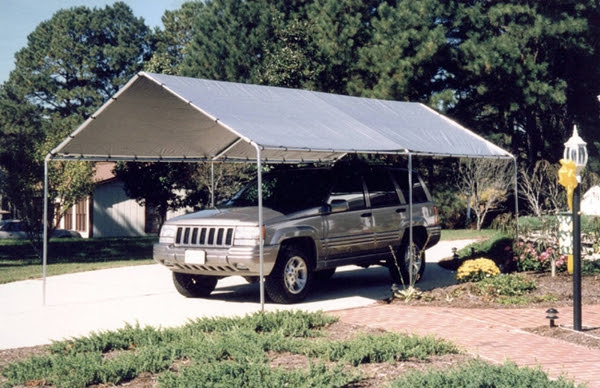 King Canopy - 6-Leg - 10 x 20 Portable Garage withSilver Cover