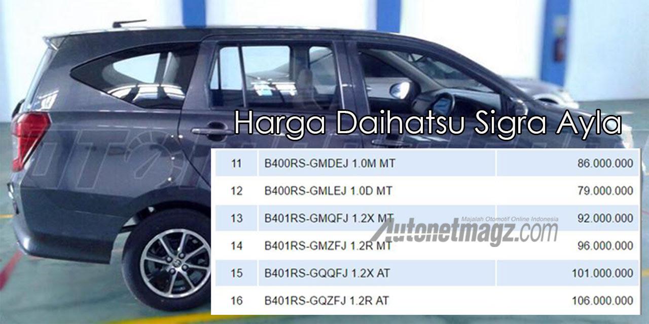 Harga Daihatsu Sigra Palangkaraya