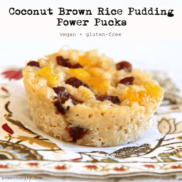 Coconut Rice Pudding Power Pucks (vegan + gluten-free ...