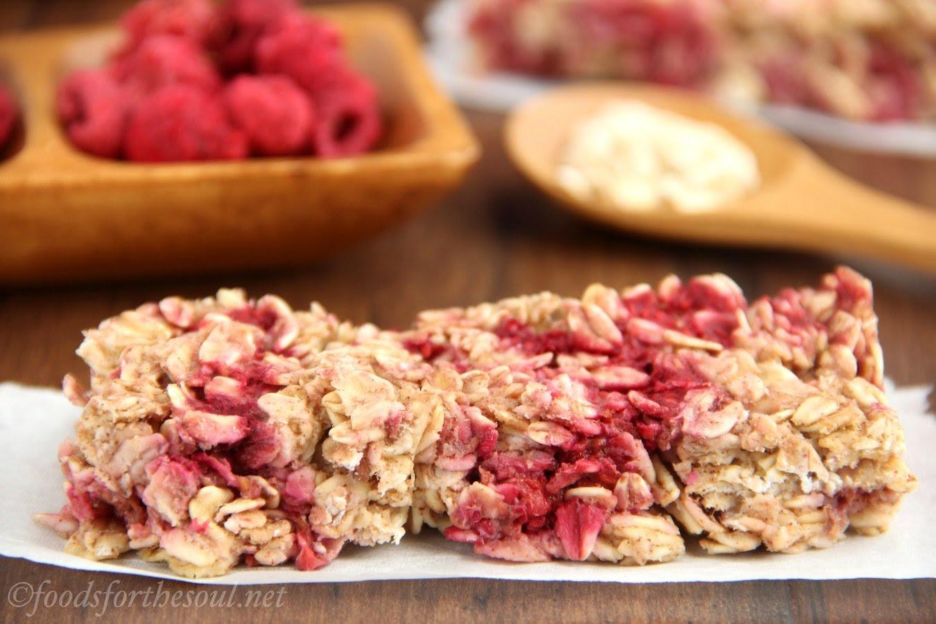 Chewy Raspberry Apple Granola Bars | Amy's Healthy Baking
