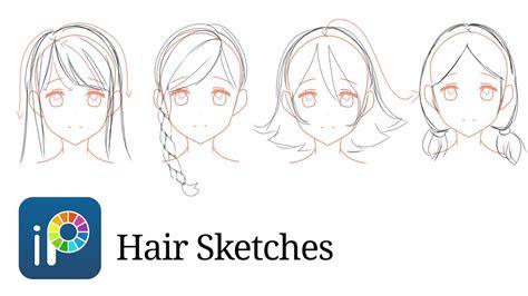 ibispaint  drawing hair sketches  waste  time