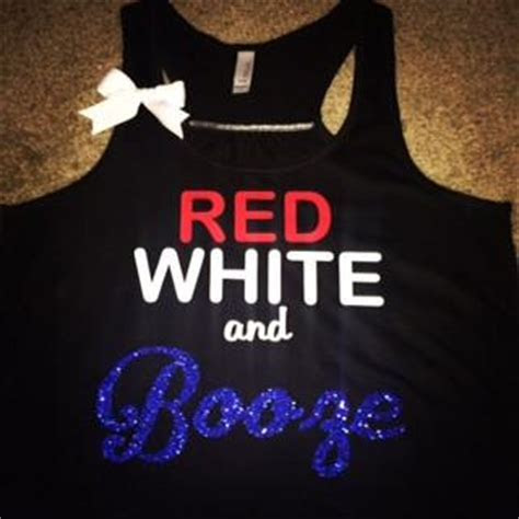 Red White and Booze   Ruffles with Love   Racerback Tank