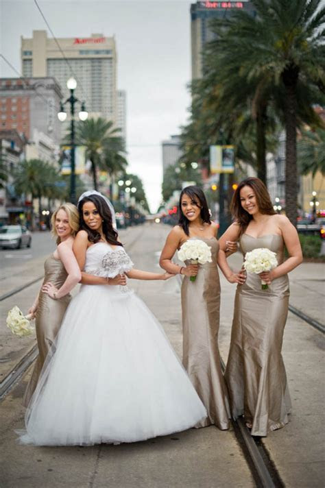 Champagne Mocha Bridesmaids Dresses In New Orleans