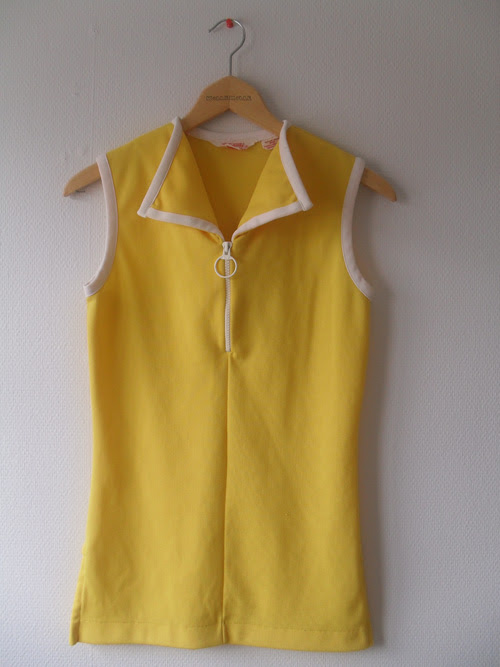 yellow 60's dress