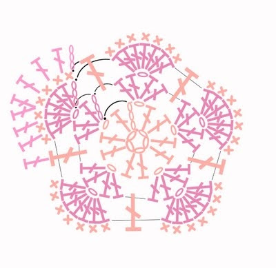 Цветочный фрагмент крючком АФРИКАНСКИЙ ЦВЕТОК для вязания игрушек (83) (400x389, 77Kb)