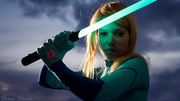 Cosplay Samus Aran Zero Suit Jedi