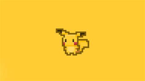 aa pixel pikachu illust art papersco
