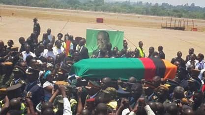 Hivi ndivyo mwili wa aliyekuwa rais wa Zambia,Michael Sata ulivyopokelewa