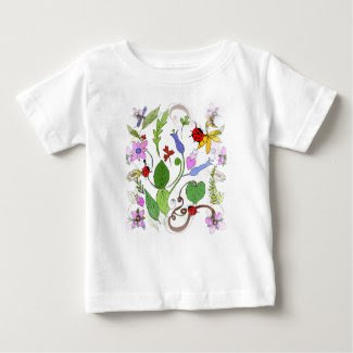 Floral Design on Infant T-Shirt