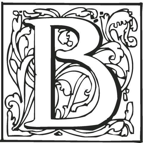 Dibujo De La Letra B Para Colorear Dibujos Para Colorear Imprimir