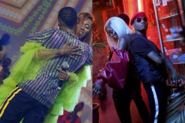 Image result for images of tiwa savage & wizkid together