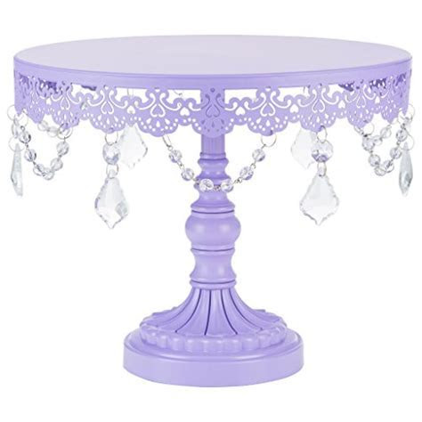 "Purple Cake Stand. ""Sophia Collection"" Metal Cake Dessert"