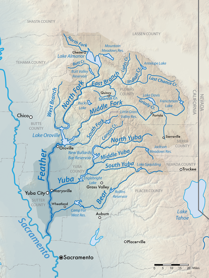 map feather river