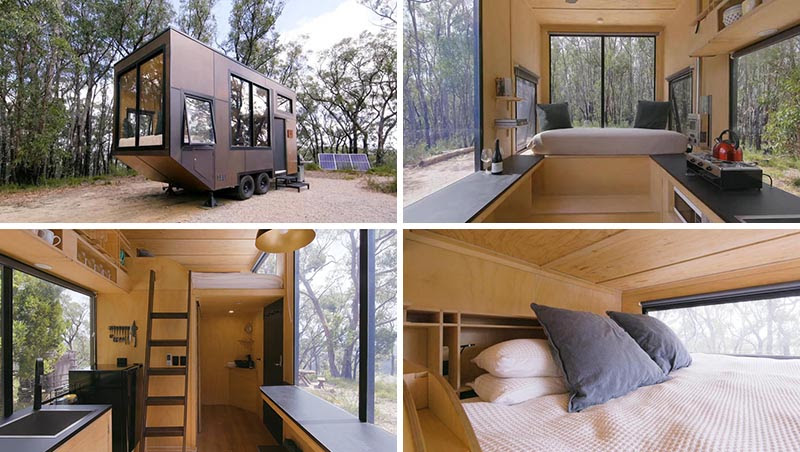 Take A Look Inside This Minimalist Tiny House With A King Size Sleeping Loft Download Autocad Blocks Drawings Details 3d Psd