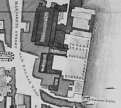 John Roque's 1746 map, Palace of Westminster