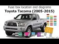 View 2006 Toyota Tacoma Fuse Box Diagram PNG