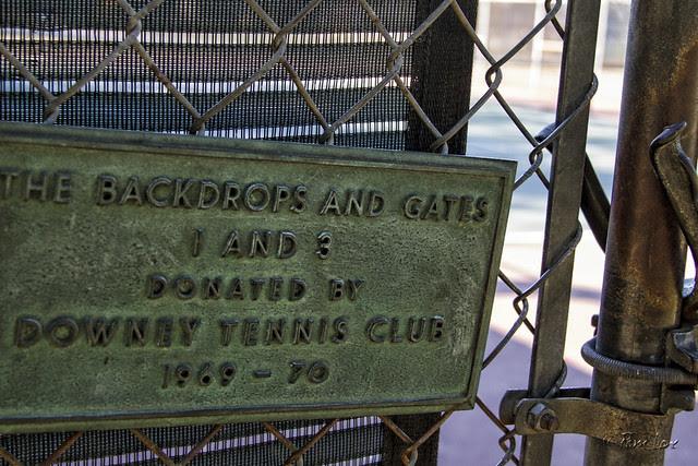 Furman Park tennis plaque