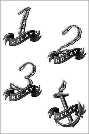 Relay Waterproof Temporary Swim Tattoos