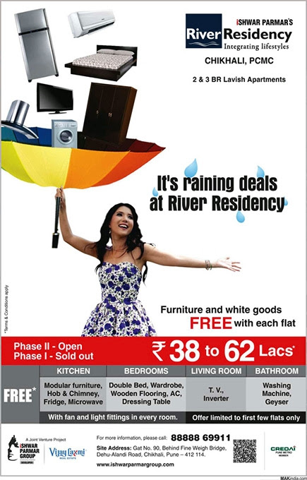 Monsoon Offer of Ishwar Parmar Group's River Residency at Chikhali, PCMC, Pune 412114