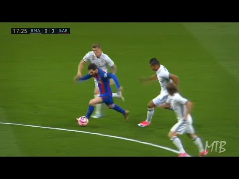 Lionel Messi Toying With Real Madrid's Greatest Midfield Trio ● Modric, Casemiro & Kroos