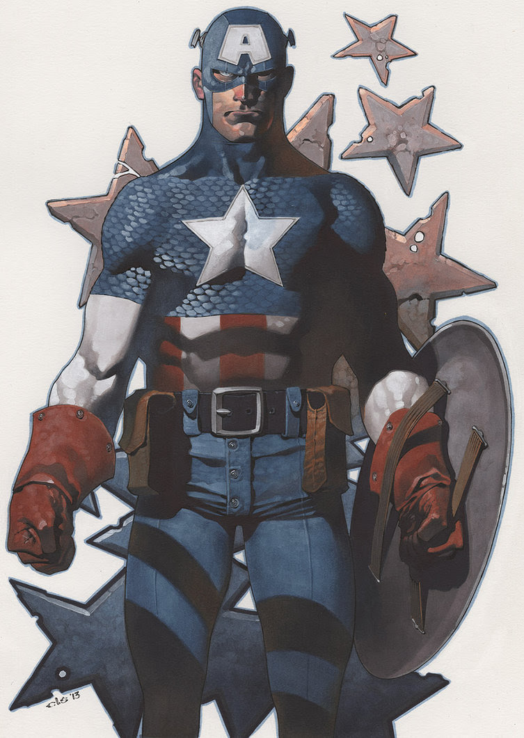 Captain America - colors by Christopher Stevens *