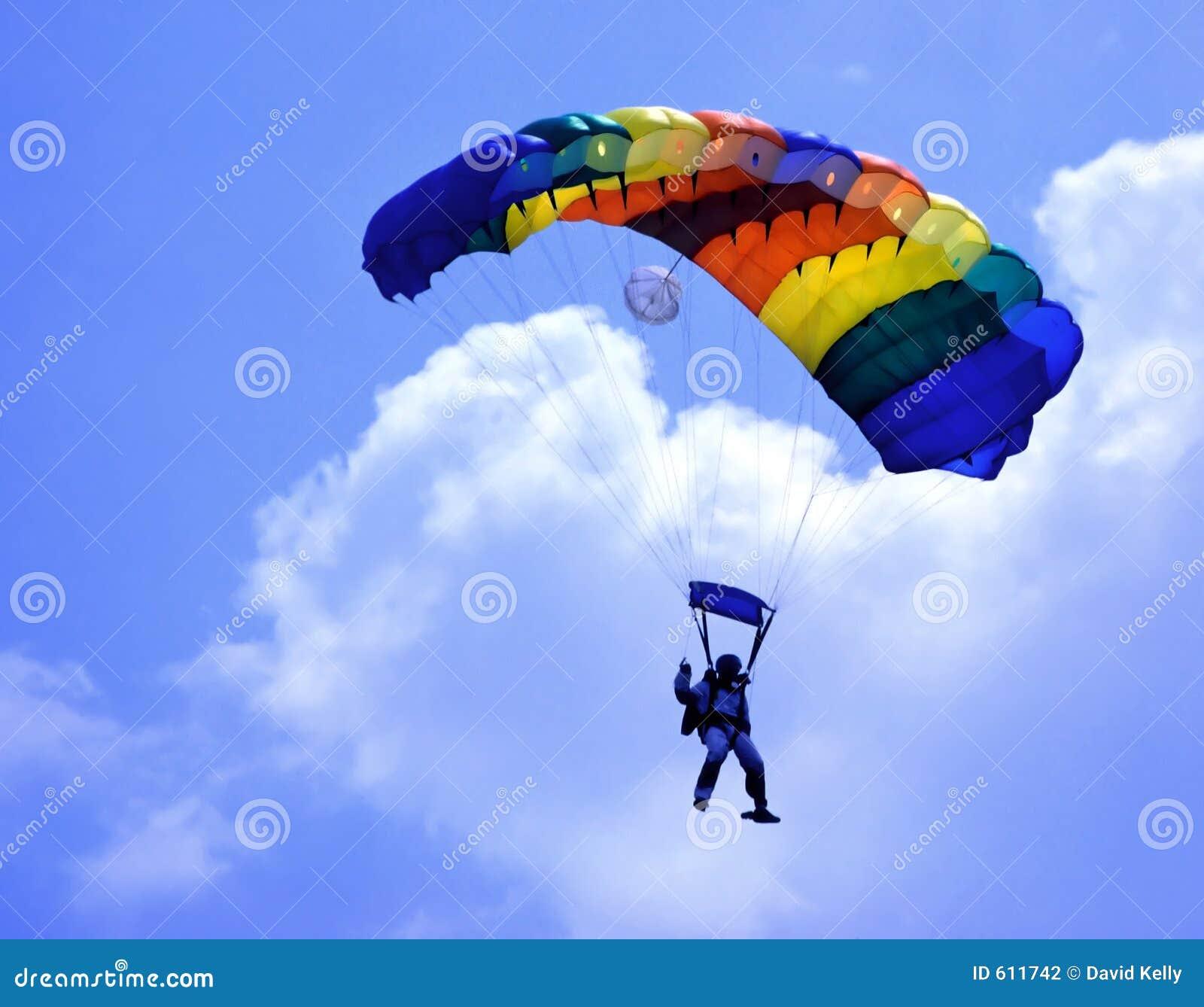 Parachute Stock Photography Image 611742