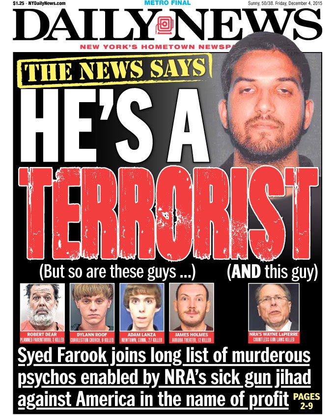 New York Daily News Front Page: NRA Head Wayne LaPierre Is A ...