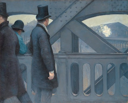 Gustave Caillebotte On the Pont de l'Europe, 1876-1877 oil on canvas overall: 105.7 130.8 cm (41 5/8 51 1/2 in.) Kimbell Art Museum, Fort Worth, Texas
