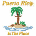 Puerto Rico Is The Place Embroidered Polo embroideredshirt