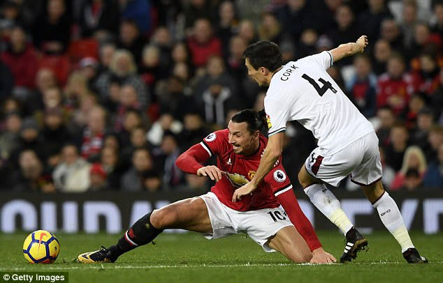 Ibrahimovic rustiness was evident as he made his first Premier League start for 261 days