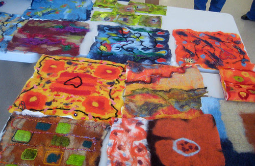 wet felting workshop