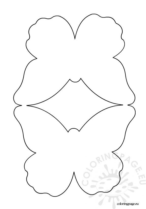 Butterfly card template