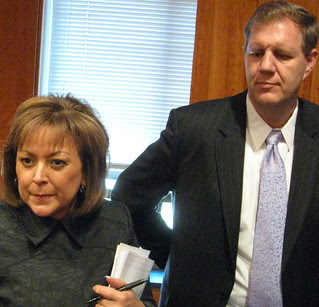 Gov. Susana Martinez & Chief of Staff Keith Gardner