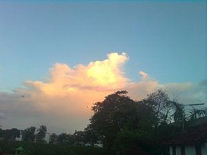 English: Heaven above...