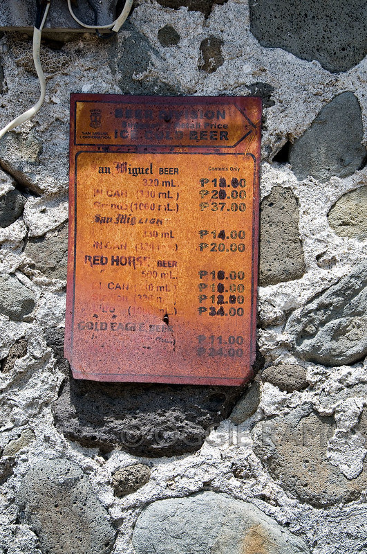 Batanes - Savidug Liquor Price Sign