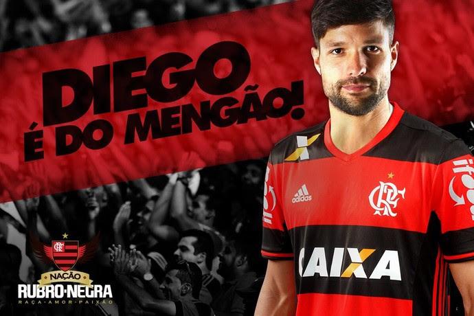 Diego Flamengo anúncio oficial (Foto: Reprodução/Twitter)