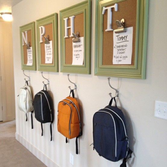 Chores & backpacks. Also cute to pin report cards and other achievements, artwork etc.