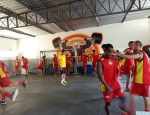 Globo FC - treinamento Campeonato Potiguar para 2016 (Foto: Diogenes Baracho / Divulgação)