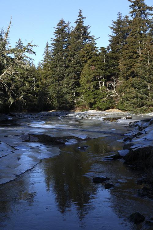 ice and Son-i-Hat Creek, Kasaan, Alaska
