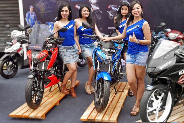 yang kemudian bukan hanya dihadiri komunitas Nona-nona Di Antara 5 Model Motor Suzuki